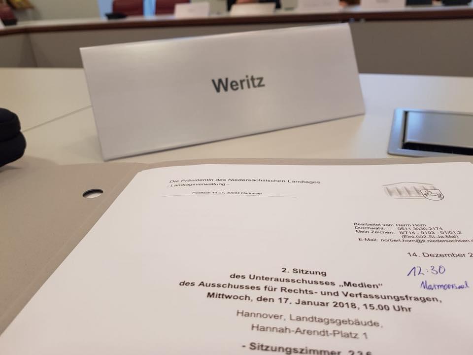 2. Sitzung des Unterausschuss Medien